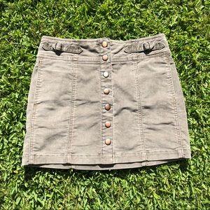 Gap Rusty Olive Corduroy Skirt